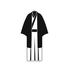Black japanese kimono icon simple style vector image