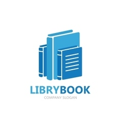 Books logo design template vector image