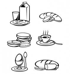 Breakfast food vector
