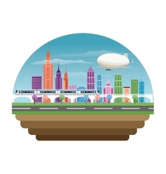 Buildings of big city design vector