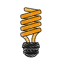 Bulb cartoon doodle vector
