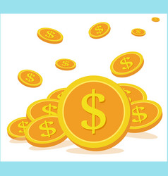 business concept flying coins are collected vector image