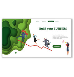 business start landing build your business modern vector image