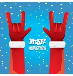 Christmas Rock n roll greeting card vector