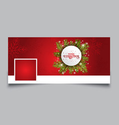 christmas timeline design cover vector image