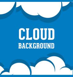 Cloud background logo vector