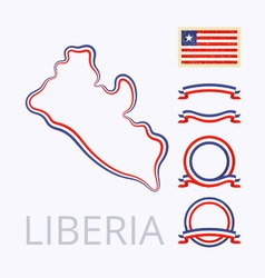 Colors of liberia vector