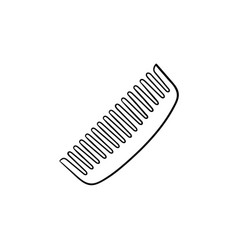 comb hand drawn sketch icon vector image
