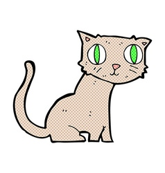 comic cartoon cat vector image