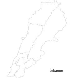 Contour Lebanon map vector image