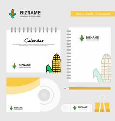 corn logo calendar template cd cover diary and vector image