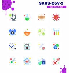 corona virus disease 16 flat color icon pack suck vector image