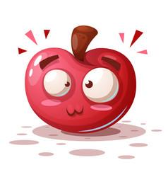 cute funny - cartoon apple characters vector image