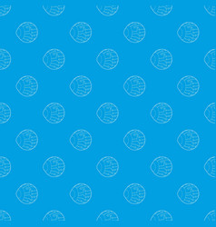 Cyber eyes pattern seamless blue vector
