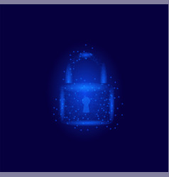 cyber security concept padlock isolated vector image