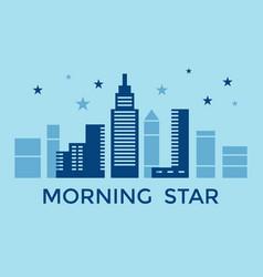 digital blue city building vector image
