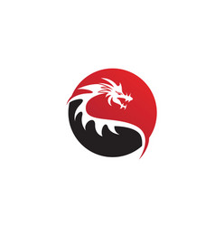 Dragon flat color logo template vector