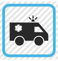 Emergency Car Icon In a Frame vector