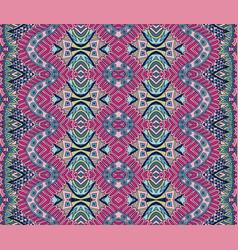 ethnic tribal pattern seamless fabric print vector image