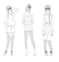 fashion girls bags vector image