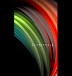 fluid colors abstract background twisted liquid vector image