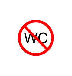 Forbidden wc icon can be used for web logo mobile vector