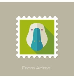 Goose flat stamp Animal head vector image