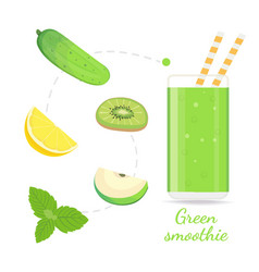 green smoothie recipe with of vector image