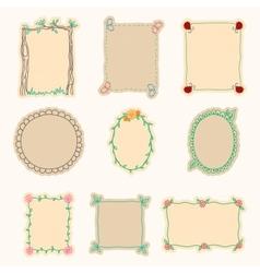 Hand Drawn Frames Set 4 vector