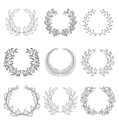 Hand drawn laurels vector