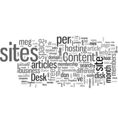 How to host your websites for only per month vector