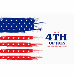 Independence day 4th july american background vector