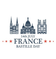 Independence Day France vector image