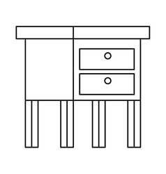 Isolated home table design vector
