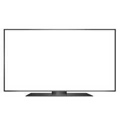 isolated oled black flat smart wide tv and white vector image