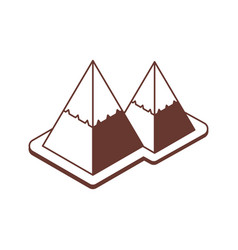isometric mountains icons vector image