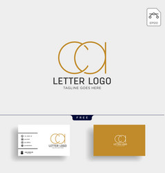 letter ac ca gold creative logo template with vector image