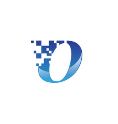 letter o icon pixel symbol design template type vector image