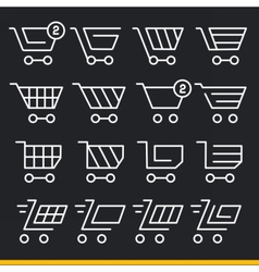 Lines icons pack collection set trend vector