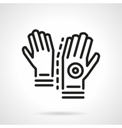 Longboard gloves simple line icon vector image