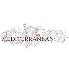 Mediterranean diet text background word cloud vector