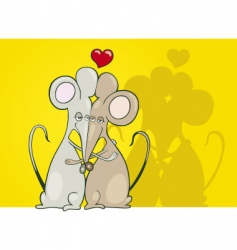 mice in love vector image