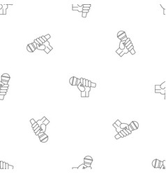 microphone hand pattern seamless vector image