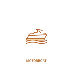 Motorboat concept 2 colored icon simple line vector