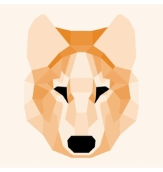 Orange low poly wolf vector