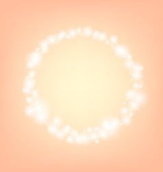 orange romantic abstrack sparkling circle frame vector image