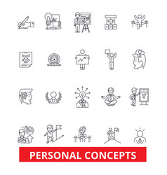 Personal concept management success growth vector