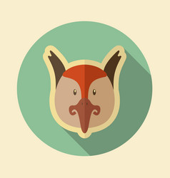 Pheasant flat icon animal head vector
