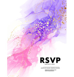 pink violet watercolor ink digital paper design vector image
