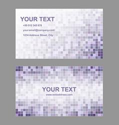 Purple geometric business card template set vector